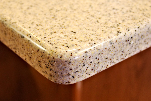 Solid surfaces cascade tops for Solid surface counters